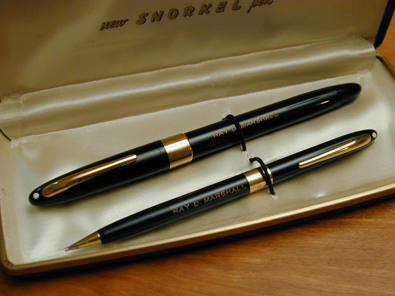 Sheaffer Snorkel Pen and Pencil Set MIB